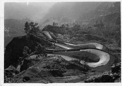 India, road between Kathgodam to Nainital - National Service - old photo (rossendale2016) Tags: road old blackandwhite india white black mountains cars rising photo dangerous driving downhill vehicles dirt national photograph service winding uphill nainital between bendy roadway bending undulating descending kathgodam zbends