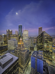 Houston Skyline - Moon Over Esperson Chase and Pennzoil Place West Side (Mabry Campbell) Tags: light panorama usa moon building glass skyline architecture sunrise buildings photography us photo downtown cityscape texas photographer exterior skyscrapers unitedstates image fav50 houston officebuildings nopeople fav20 september photograph cameron april 100 fav30 fineartphotography verticalpanorama f63 esperson 2014 architecturalphotography 2015 17mm pennzoil colorimage commercialphotography fav10 fav100 harriscounty 13sec fav40 fav60 architecturephotography fav90 portraitorientation fav80 penzoilplace officelights fav70 nielsesperson fineartphotographer houstonphotographer tse17mmf4l mabrycampbell april192015 20150419h6a5179