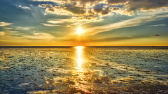 Reflektionen im Watt / Reflections in the Wadden Sea (chrisar676) Tags: sunset sun reflection canon reflections eos coast sonnenuntergang northsea lowtide sonne nordsee hdr highdynamicrange watt schleswigholstein reflektion ebbe wattenmeer reflektionen büsum waddensea ebbtide nordseeküste 60d canon60d canonef24105f4lisusm canoneos60d eos60d aurorahdrpro aurorahdr