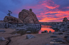 _DSC4155acprt (TreeRose Photography) Tags: morning arizona sky lake tree water colors clouds sunrise reflections rocks prescott watsonlake rockformations