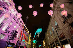 Lumiere festival, London (ncs1984) Tags: uk light england fish color colour london art colors night canon lights flying europe colours floating piccadilly lumiere installation lanterns lantern 6d festval