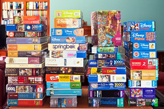 Puzzling Collection (hz536n/George Thomas) Tags: winter copyright oklahoma pomegranate collection puzzle educa canon5d schmidt stillwater february aquarius heye springbok jigsawpuzzle ravensburger 2016 whitemountain ef1740mmf4lusm georgethomas eurographics clementoni buffalogames houseofpuzzles