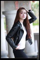 DP1U9579 (c0466art) Tags: school light portrait black girl beautiful face female canon photography shoe cool asia long university pretty slim jean outdoor body style member welcome cloth activity jacky society keelung 1dx  c0466art