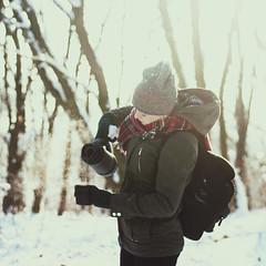 3/52 (Joanna Zitalak) Tags: winter woman girl 50mm nikon women tea outdoor space jacket conceptual 18 thermos d90 winterlicious