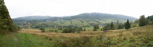 Panorama Starego Gierałtowa ze Starej Drogi Kresowej pod Wilczą