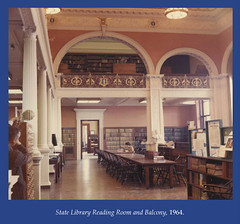 State Library Reading Room and Balcony, 1964 (State Library of Massachusetts) Tags: bostonmassachusetts massachusettsstatehouse massachusettslegislature statelibraryofmassachusetts