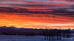A fired  up Alberta Sky (JA Photography - Be There, Out There) Tags: sunset sky alberta canadianrockymountains albertasky