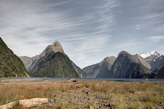 MilfordSound (dan_walk) Tags: new travel camping 3 mountains grass canon island big high dynamic mark south iii zealand coastal views nz sound 5d milford colourful range hdr magnitude