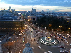 Godess (henryub) Tags: madrid street plaza city sunset atardecer calle cibeles madridcitymola flickrcomgroupsmadridcitymolapool