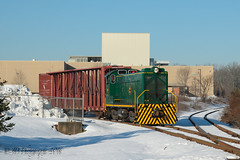 SMS Baldwin DS4-4-750 #102 @ Morrisville, PA (Darryl Rule's Photography) Tags: winter sun snow train pennsylvania trains pa local baldwin freight buckscounty sms morrisville freighttrain csao ds44750 smslines morrisvilleindustrialpark