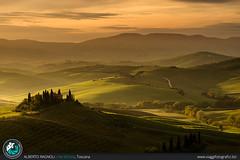 Alba in Val d'Orcia (AlbertoRagnoli) Tags: italy landscape alba hills val tuscany belvedere toscana valdorcia podere dorcia