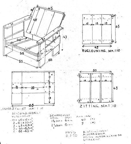 Gerrit Rietveld Crate Chair Plans Plus Iso
