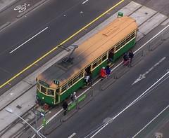 W-Class Tram, Melbourne (Oriolus84) Tags: roof heritage tram australia melbourne victoria aerial passengers publictransport citycircle wclass latrobestreet citycircletram w8959