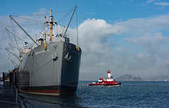 Jeremiah O'Brien and the SFFD Guardian 12-2015 (daver6sf@yahoo.com) Tags: sanfranciscobay sffd guardian fireboat portofsanfrancisco jeremiahobrien libertyship