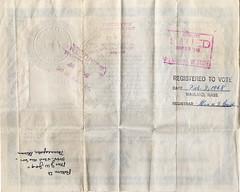 The back of E. Eleen Jago's citizenship certificate tells her story (avatarsound) Tags: minnesota official minneapolis document citizenship citizen legal jago naturalization