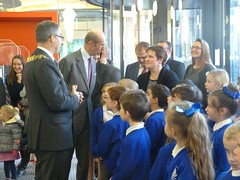 HRH The Duke of Kent meets children from Thorpdene School (SouthendBC) Tags: kent duke southend theforumsouthendonsea
