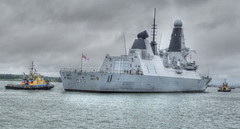 HMS DRAGON Type 45 (conespider) Tags: ship navy tugboats warship southamptonwater type45 hmsdragon