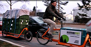 Carla Cargo Bicycle Trailer - orange - Cityride