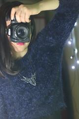Oh Deer! (material grrrl) Tags: mirror deer 365 dust selfie plasticmoon