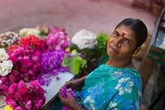 At Triplicane (Akilan T) Tags: flowers woman india smile chennai tamilnadu flowerseller cwc triplicane chennaiweekendclickers cwc508