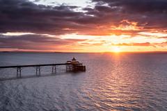 Sunset Pier (~g@ry~ (clevedon-clarks)) Tags: uk sunset seascape clouds landscape coast pier rocks victorian somerset severn riversevern coastal clevedon northsomerset clevedonpier hitechfilters