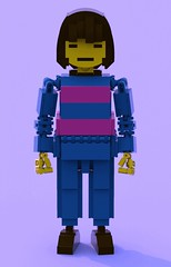 Frisk 1 (pb0012) Tags: game video lego character human indie videogame frisk ldd indiegame undertale friskundertale
