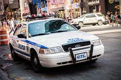NYPD Car (Kartjb) Tags: city nyc newyorkcity usa ny newyork car manhattan sony police nypd midtown timessquare rx100