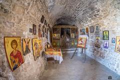 Small chapel near Agios Georgios church (jazzbeardie) Tags: church icons fuji religion cyprus agiosgeorgios xt1
