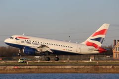 G-EUNA Airbus A318-112 British Airways (R.K.C. Photography) Tags: uk england london aircraft airbus docklands ba britishairways londoncityairport airliners baw silvertown newham a318 lcy eglc a319112 geuna canoneos100d