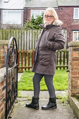 Dr Marten Gayle. (CWhatPhotos) Tags: pictures camera girls portrait woman black leather canon pose that photography boot cool foto legs image boots artistic zoom pics walk dr leg picture pic images womens wear have photographs photograph fotos 7d biker sole buckle marten which soles dm 18200 gayle docs buckles contain bouncing airwair martens dms onthe 18200mm cwhatphotos