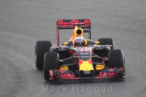 Daniel Ricciardo in the Red Bull during Formula One Winter Testing 2016