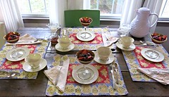 Jacob Swartz House ~ table setting (karma (Karen)) Tags: china breakfast virginia tables textiles bb newmarket settings placemats jacobswartzhouse