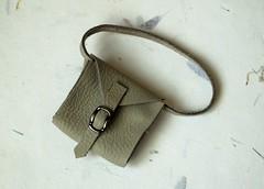 Leather handbag for Blythe doll