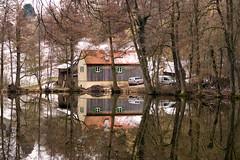 House at the lake - IMG_1447x (berndkru) Tags: lake water germany bayern deutschland bavaria see wasser kamera ebersberg canonpowershotg7x