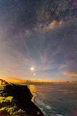 Sunrise Milkyway (liewjw) Tags: nightphotography bali moon seascape beach sunrise indonesia landscape galaxy astrophotography nightscapes milkyway