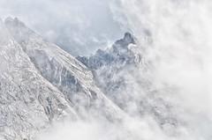 H I D D E N (Vojen Smek) Tags: mountain mountains alps nature clouds germany landscape rocks view bavarian eibsee zugspitze