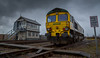 Freightliner Class 66/6 no 66603 at Thoresby Colliery Sidings on 09-03-2016 shunting wagons around to keep their wheels free whilst in storage. (kevaruka) Tags: uk greatbritain england colour rain clouds composition train flickr colours rainyday cloudy unitedkingdom shed dreary loco trains gb locomotive frontpage dull nottinghamshire coalmine miners miningtown thoresby edwinstowe cloudyday freightliner class66 drearyday 66603 thoresbycolliery thephotographyblog thoresbypit ilobsterit