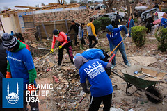 Islamic Relief USA's disaster response team and volunteers help to clean up the rubble after tornadoes devastated areas of Texas.