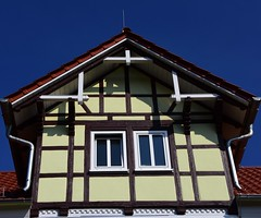 (:Linda:) Tags: two window germany town bluesky thuringia gable halftimbered themar