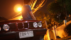 IMG_8603 (randolf.bautista) Tags: street light lamp car night dark bmw 525i