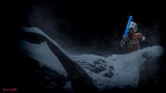Luke (Deanomite85) Tags: orange snow toy rebel star back lego echo running empire jedi lightsaber wars blizzard base strikes pilot sith minifigure cinemateca legography