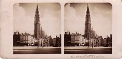 Antwerpen anno (Ferencdiak) Tags: berlin tower clock germany place stereo stereoview torony npg anvers cathedrale ra tr ripolin fot