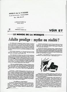 MICHEL  SOGNY PRESSE 1981 LE REPUBLICAIN LORRAIN