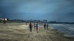 Beach Walkers (emptyseas) Tags: ocean usa beach sand nikon florida cocoa d800 emptyseas
