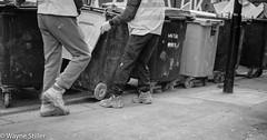 Bins (Wayne Stiller) Tags: street people building london st site construction cross kings pancras
