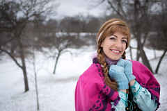 Anna at the Falls -11 (YGKphoto) Tags: park winter anna snow cold minnesota frozen costume cosplay outdoor minneapolis disney minnehaha