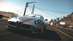 8C Competizione Spider (polyneutron) Tags: motion car silver photography police depthoffield chase videogame alfaromeo needforspeed nfs 8c hotpursuit competizione photomode hp2010