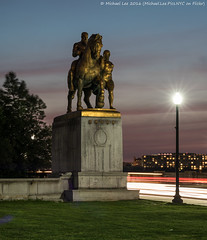 Valor (DSC02544) (Michael.Lee.Pics.NYC) Tags: longexposure sunset mars night washingtondc twilight nikon sony lincolnmemorial bluehour valor lighttrail godofwar arlingtonmemorialbridge traffictrail leofriedlander theartsofwar nikkor85mmaf18 a7rm2