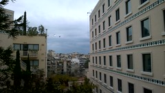 Helicopter Fly Past (Dave G Kelly) Tags: anniversary athens greece helicopter revolution