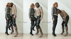 elle199 (Cuir Couple) Tags: leather sm skirt bdsm jacket jupe mistress veste leder femdom pant pantalon cuero cuir hosen maitresse cuissardes